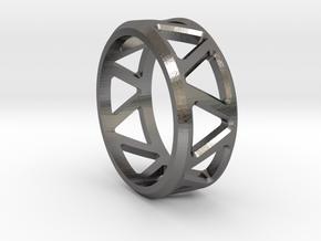 Geometric ring V1 in Polished Nickel Steel: 8 / 56.75