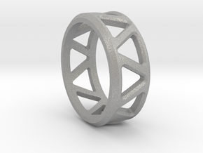 Geometric ring V1 in Aluminum: 8 / 56.75