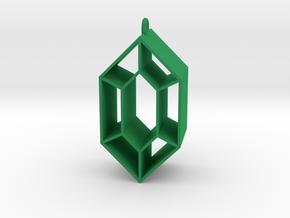 Legend of Zelda Rupee in Green Processed Versatile Plastic