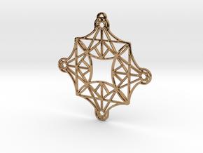 DoodleFan Earring or Pendant (Square) in Polished Brass