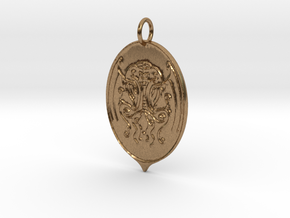 Cthulhu Pendant in Natural Brass