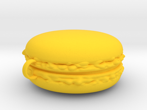 Giant Macaron Christmas Decoration in Yellow Processed Versatile Plastic