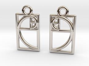 Golden Ratio Earrings in Rhodium Plated Brass