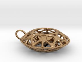 Brilliant diamond pendant in Polished Brass