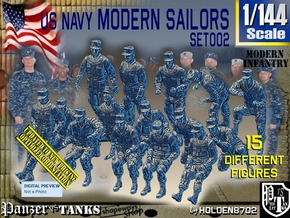 1/144 USN Modern Sailors Set002 in Smooth Fine Detail Plastic