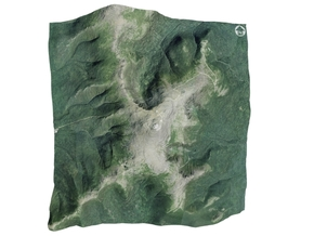 "Mount Washington Map: 6"" in Full Color Sandstone"
