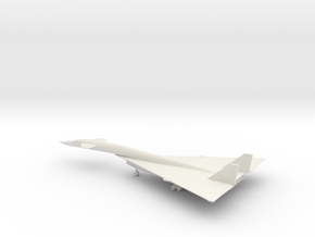 North American XB-70 Valkyrie in White Natural Versatile Plastic: 6mm