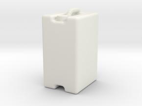 Jerrycan 25L 1/32 in White Natural Versatile Plastic