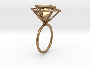 Crazy diamond size 56 in Natural Brass