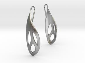 Flos earrings in Natural Silver