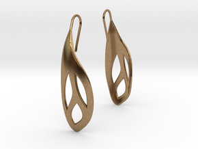Flos earrings in Natural Brass