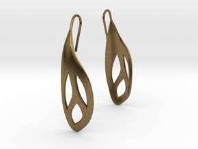 Flos earrings in Natural Bronze