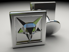 Fox Cufflinks in Polished Silver