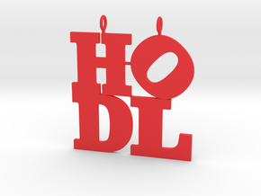 HODL pendant in Red Processed Versatile Plastic