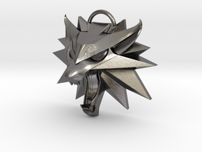 Witcher 3 Wild Hunt Medallion (Solid, Not Hollow) in Polished Nickel Steel