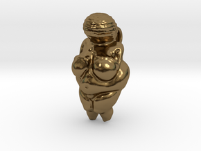 Paleolithic Mother Goddess pendant in Polished Bronze
