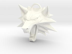 Witcher Medallion (Old Style, Solid, Not Hollow) in White Processed Versatile Plastic