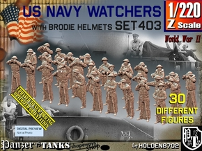 1/220 US Navy Watchers Set 403 in Smoothest Fine Detail Plastic