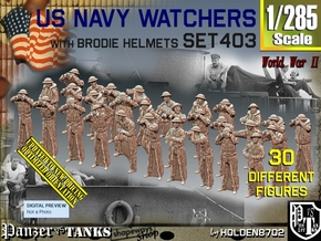 1/285 US Navy Watchers Set 403 in Smoothest Fine Detail Plastic