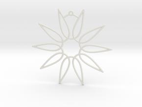 Secant Ornament in White Natural Versatile Plastic
