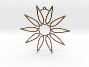 Secant Ornament in Natural Brass