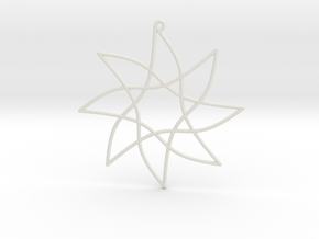 Cotangent Ornament in White Natural Versatile Plastic