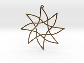 Cotangent Ornament in Natural Bronze