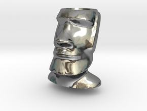 Moai Easter Island Head Charm by Kaceahttps in Fine Detail Polished Silver