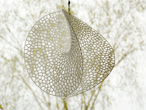 Enneper Voronoi Dreamcatcher in White Processed Versatile Plastic: Large