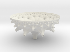 Cell of a {3,7,3} Honeycomb in White Natural Versatile Plastic