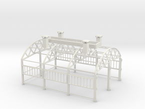 LM76B Engine Shed frame only in White Natural Versatile Plastic