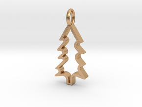 Christmas Tree - Pendant in Natural Bronze