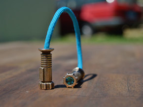 Slimz Sabers Begleri (Beads Only) / Skill Toy in Polished Bronze Steel