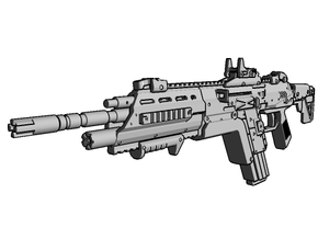 1:6 scale Sci-Fi carbine  in White Strong & Flexible