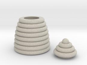 Mini Beehive box in Natural Sandstone