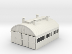 LM46 Hulme End Engine Shed in White Natural Versatile Plastic