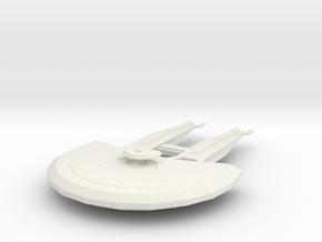 Cardassian Heavy Cruiser in White Natural Versatile Plastic