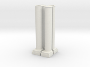 Arch Side Pillar in White Natural Versatile Plastic