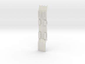 000471 Tieflader für Baumaschinen HO 1:87 in White Natural Versatile Plastic: 1:87 - HO