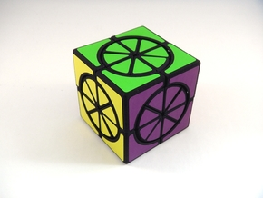 Circle X 2x2x2 Cube in White Natural Versatile Plastic