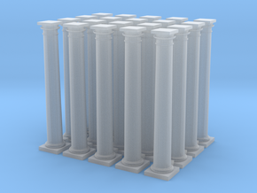 20 Doric Columns 20mm high v4 in Smooth Fine Detail Plastic