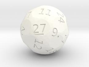d27 oddball die in White Processed Versatile Plastic