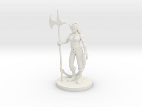Tiefling  Female Barbarian in White Natural Versatile Plastic