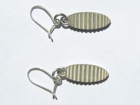 Pair of Waves Earrings in Natural Silver