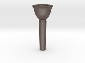 Trombone Small Shank Mouthpiece Prototype* in Polished Bronzed Silver Steel