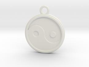 Jing jang in White Natural Versatile Plastic