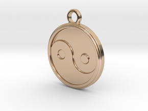 Jing jang in 14k Rose Gold Plated Brass