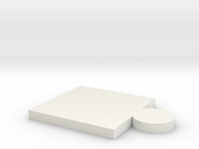 puzzle piece in White Natural Versatile Plastic
