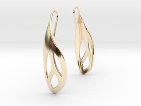 Flos earrings in 14K Yellow Gold
