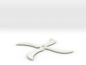 Miniature Sasuke Shuriken - Naruto in White Natural Versatile Plastic: 1:12
